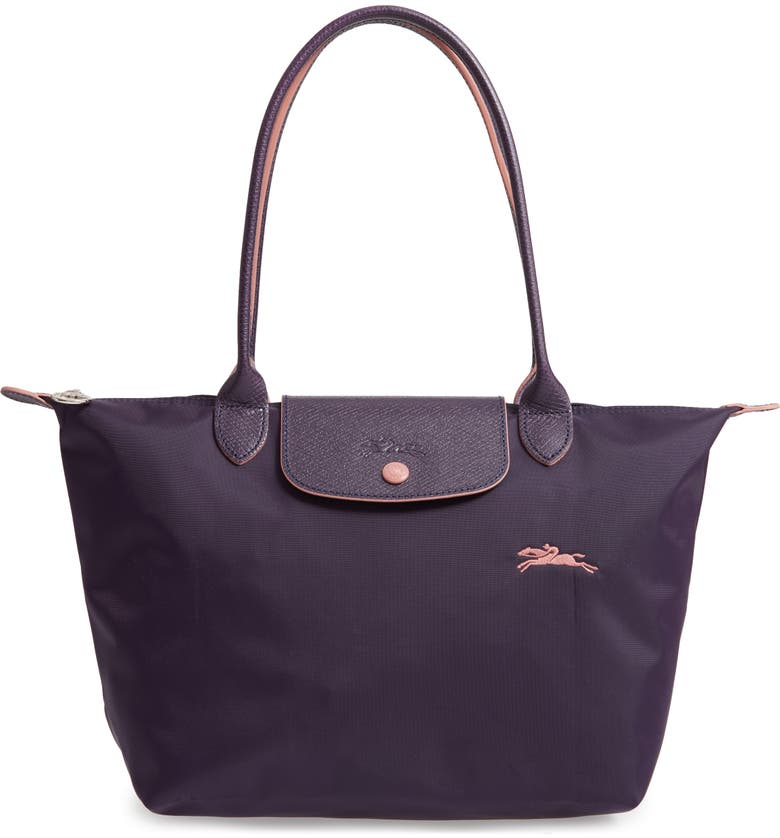 LONGCHAMP Le Pliage Club Small Shoulder Tote, Main, color, BILBERRY