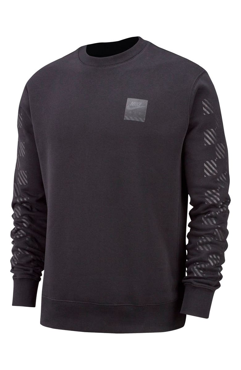 NIKE Sportswear Triple Block Crewneck Sweatshirt, Main, color, BLACK