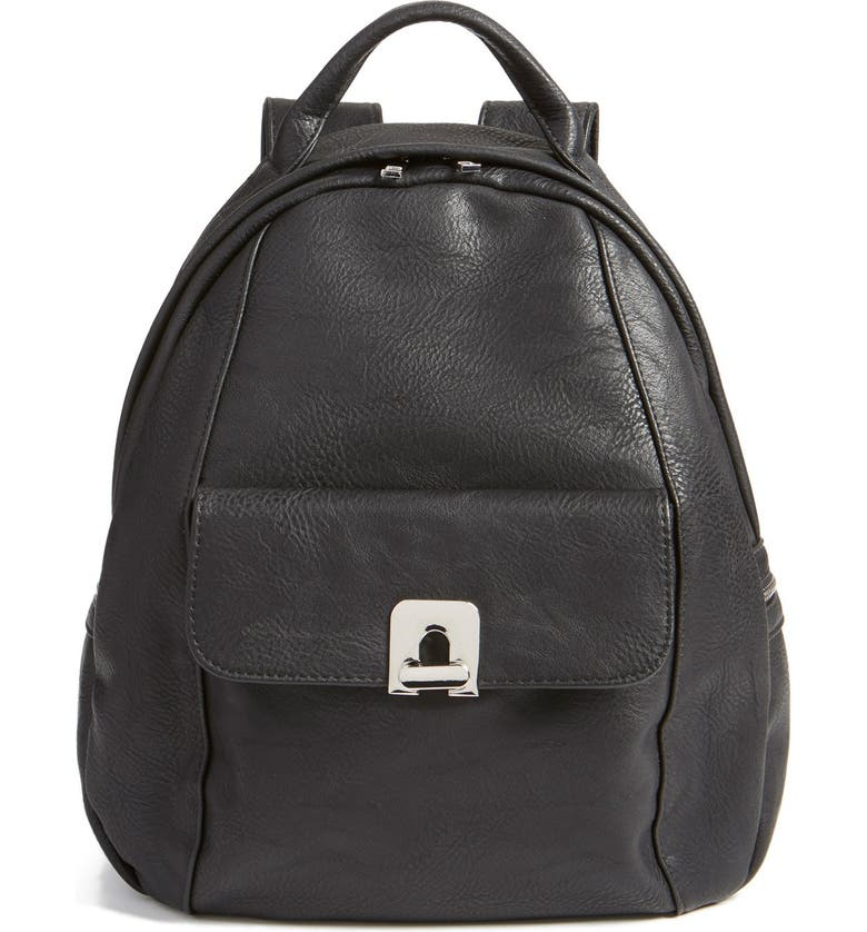 BP. Faux Leather Backpack, Main, color, 001