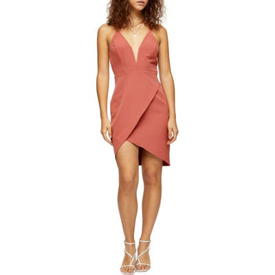 Topshop Plunge Slipdress, US (fits like 10-12) - Beige