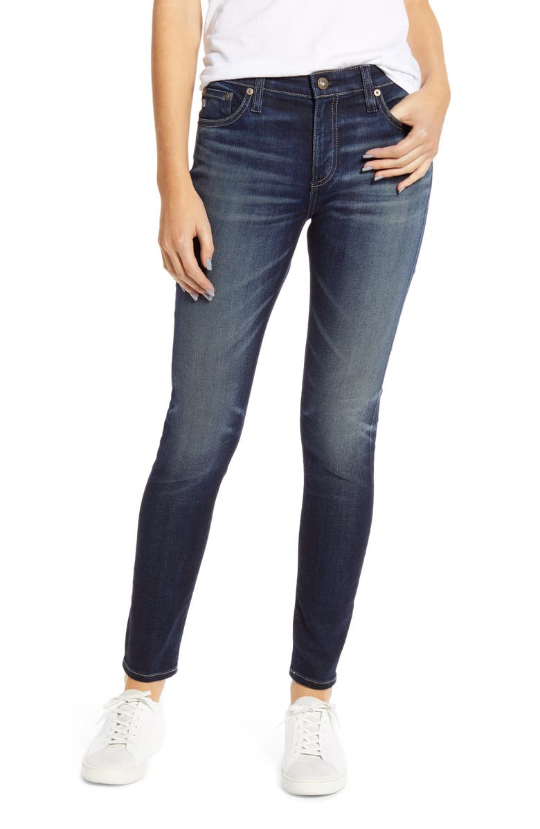 AG The Farrah Ankle Skinny Jeans, Main, color, 8 YEARS EXPRESSIVE