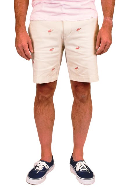 Image of Vintage 1946 Embroidered Stretch Twill Shorts