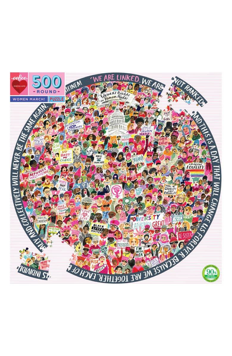 EEBOO Women's March 500-Piece Round Puzzle, Main, color, 960
