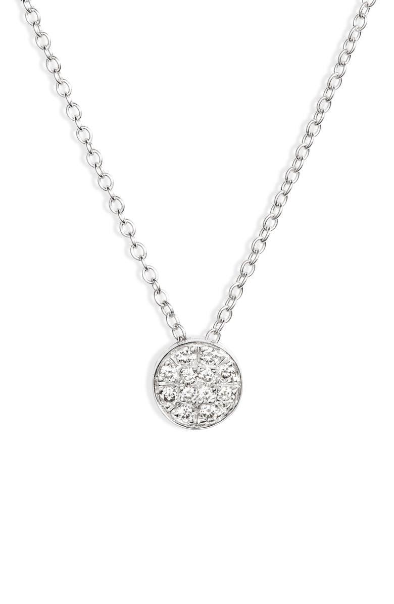 BONY LEVY Bardot Diamond Pendant Necklace, Main, color, WHITE GOLD/ DIAMOND