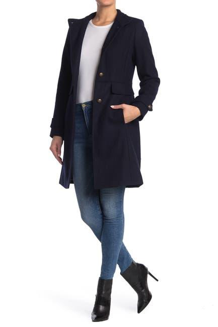 Image of Lauren Ralph Lauren Wool Blend Military Coat