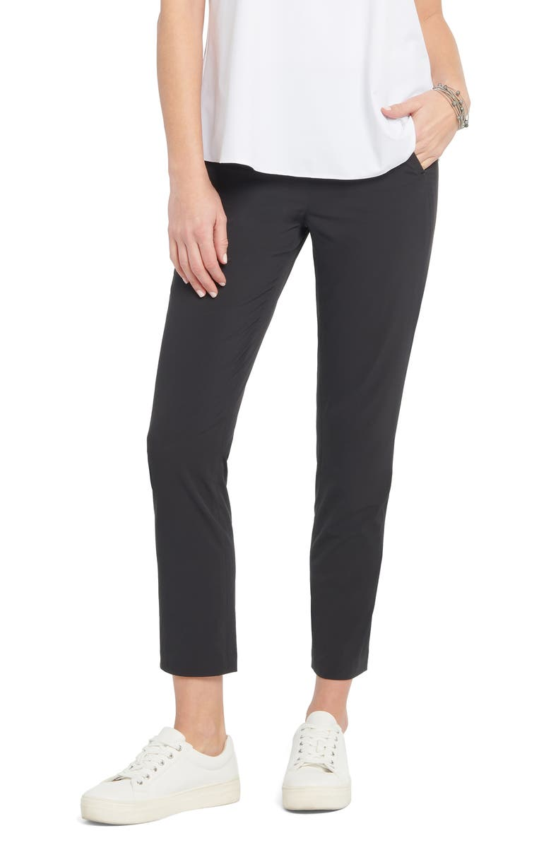 NIC+ZOE Tech Stretch Ankle Pants, Main, color, BLACK ONYX