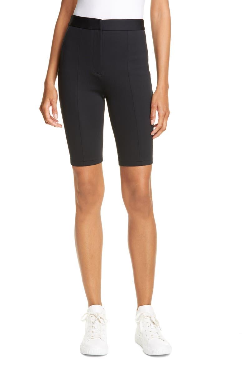 TIBI Biker Shorts, Main, color, BLACK