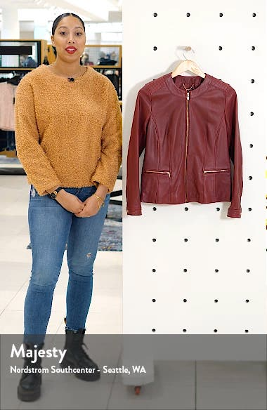 Smooth Lambskin Leather Jacket, sales video thumbnail
