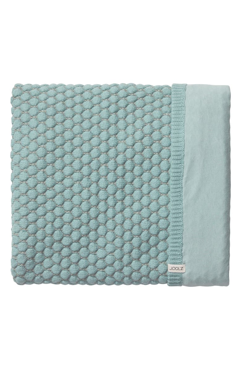 JOOLZ Essentials Honeycomb Organic Cotton Blanket, Main, color, MINT