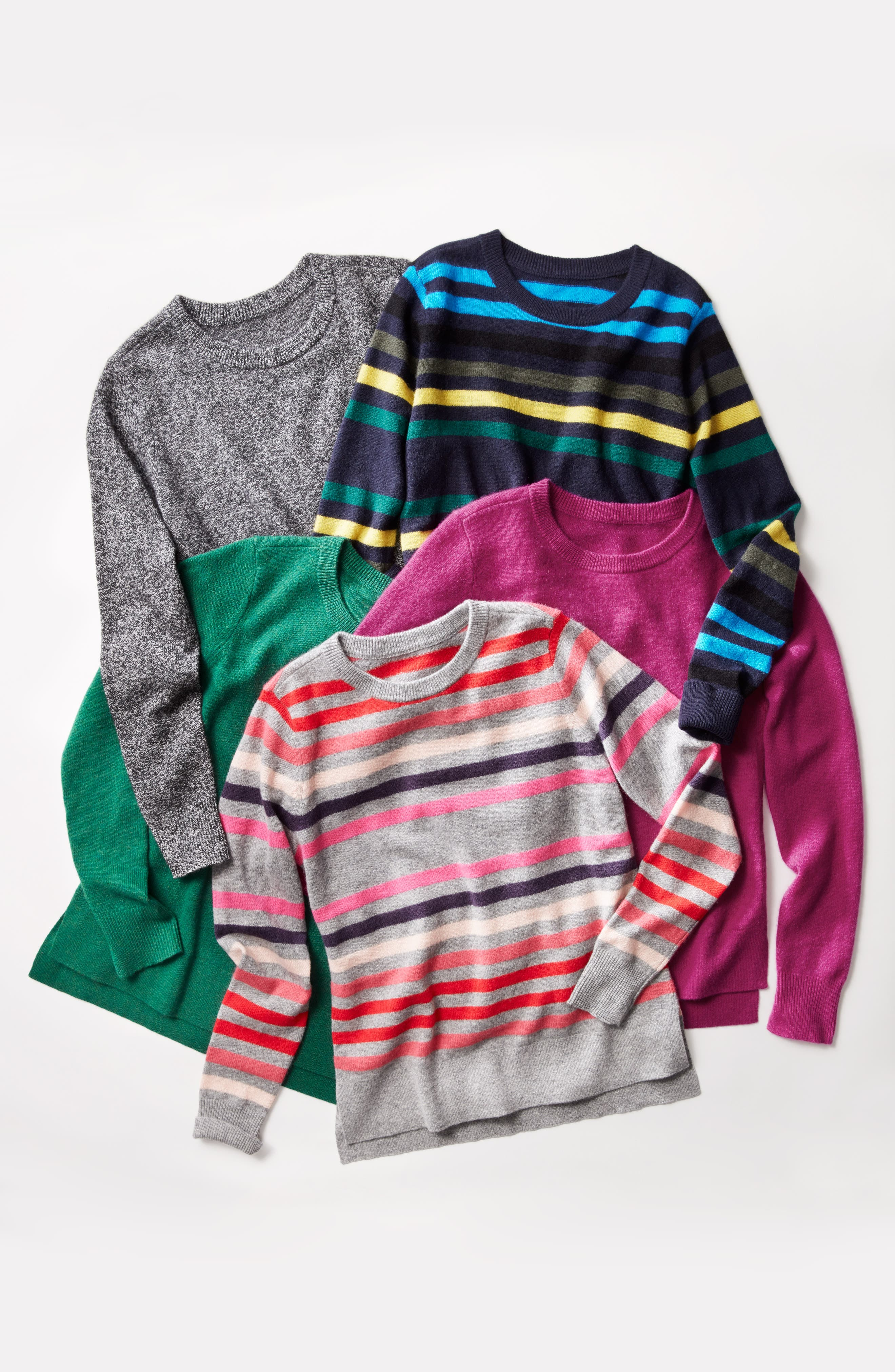 ,                             Crewneck Cashmere Sweater,                             Alternate thumbnail 8, color,                             002