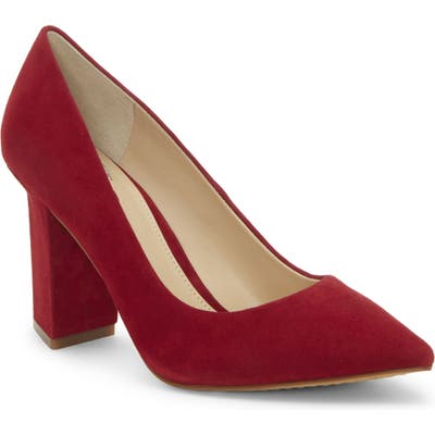 Vince Camuto Candera Pointed Toe Pump- Red