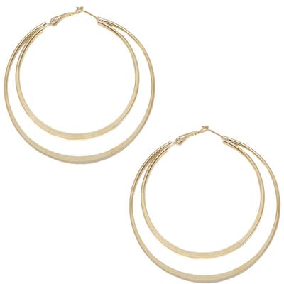 Ettika Double Circle Hoop Earrings