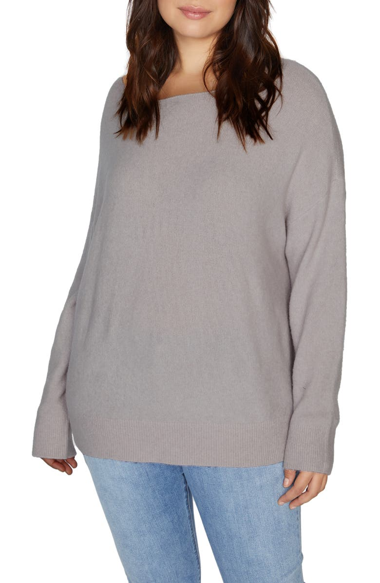 SANCTUARY Chill Out Sweater, Main, color, LILAC SNOW