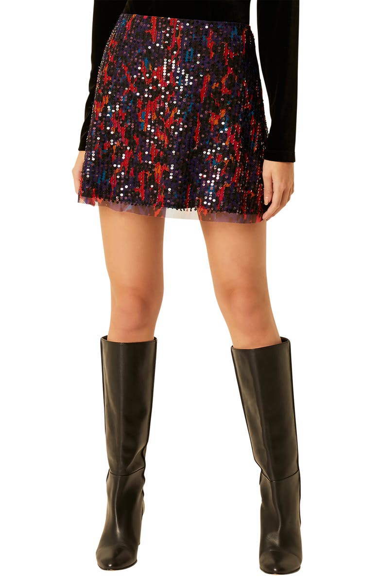 FRENCH CONNECTION Inari Sequin Miniskirt, Main, color, MULTI