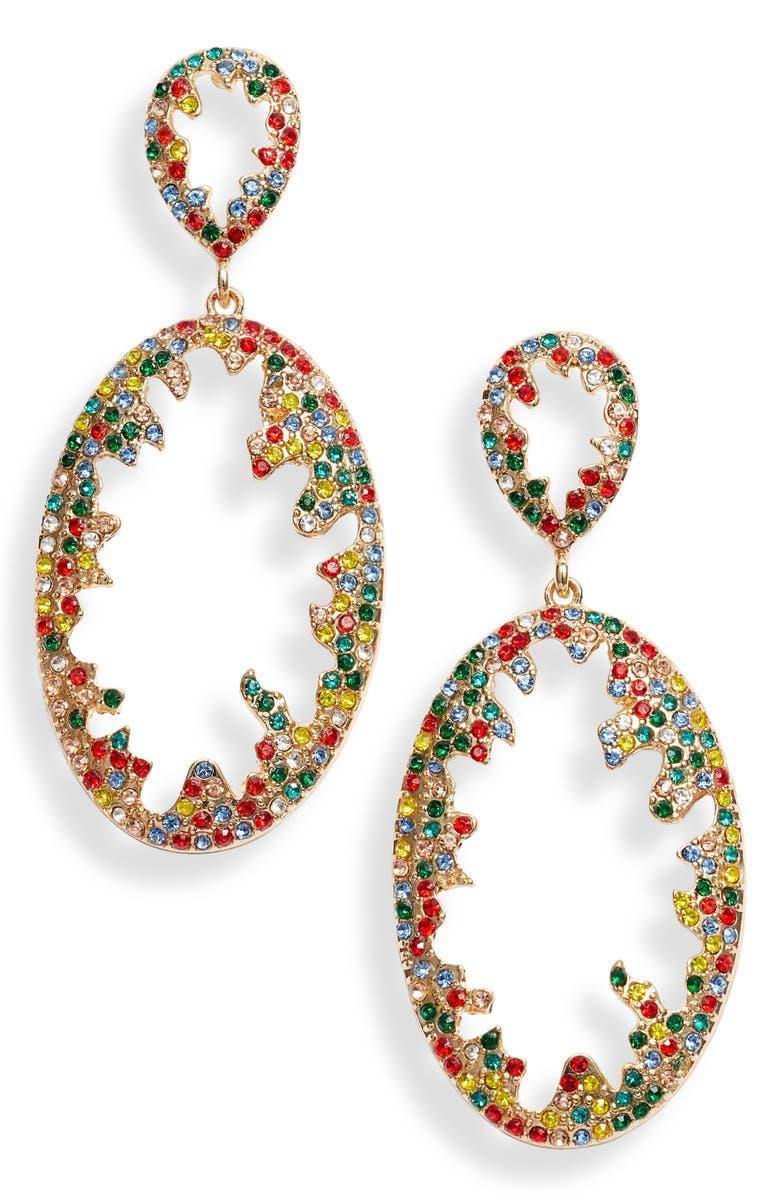 BRACHA Whitney Earrings, Main, color, GOLD / MULTI