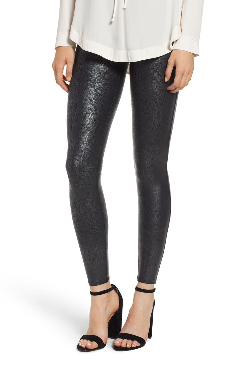 999c7083ecce5 SPANX® Pebbled Faux Leather Leggings | Nordstrom