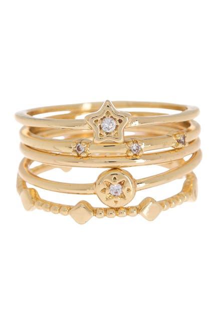 Image of Loren Olivia Fine Celestial Stackable Ring Set
