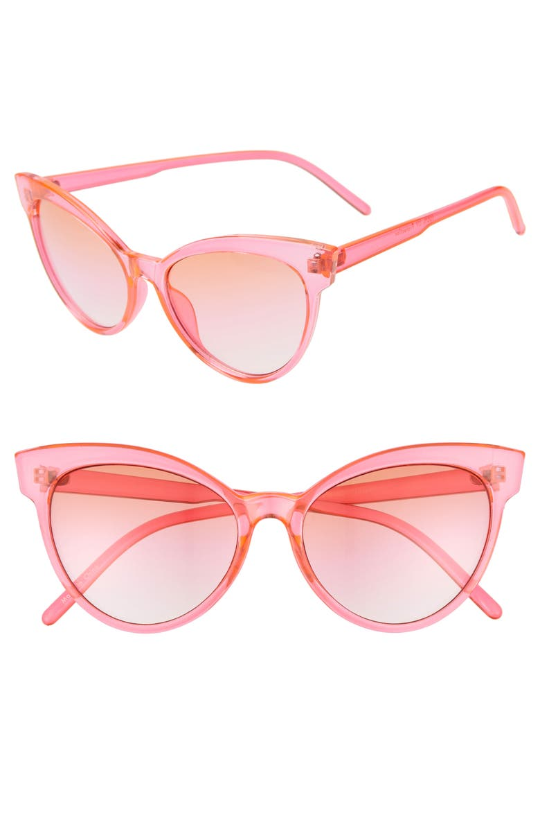 BP. Neon Cat Eye Sunglasses, Main, color, NEON PINK