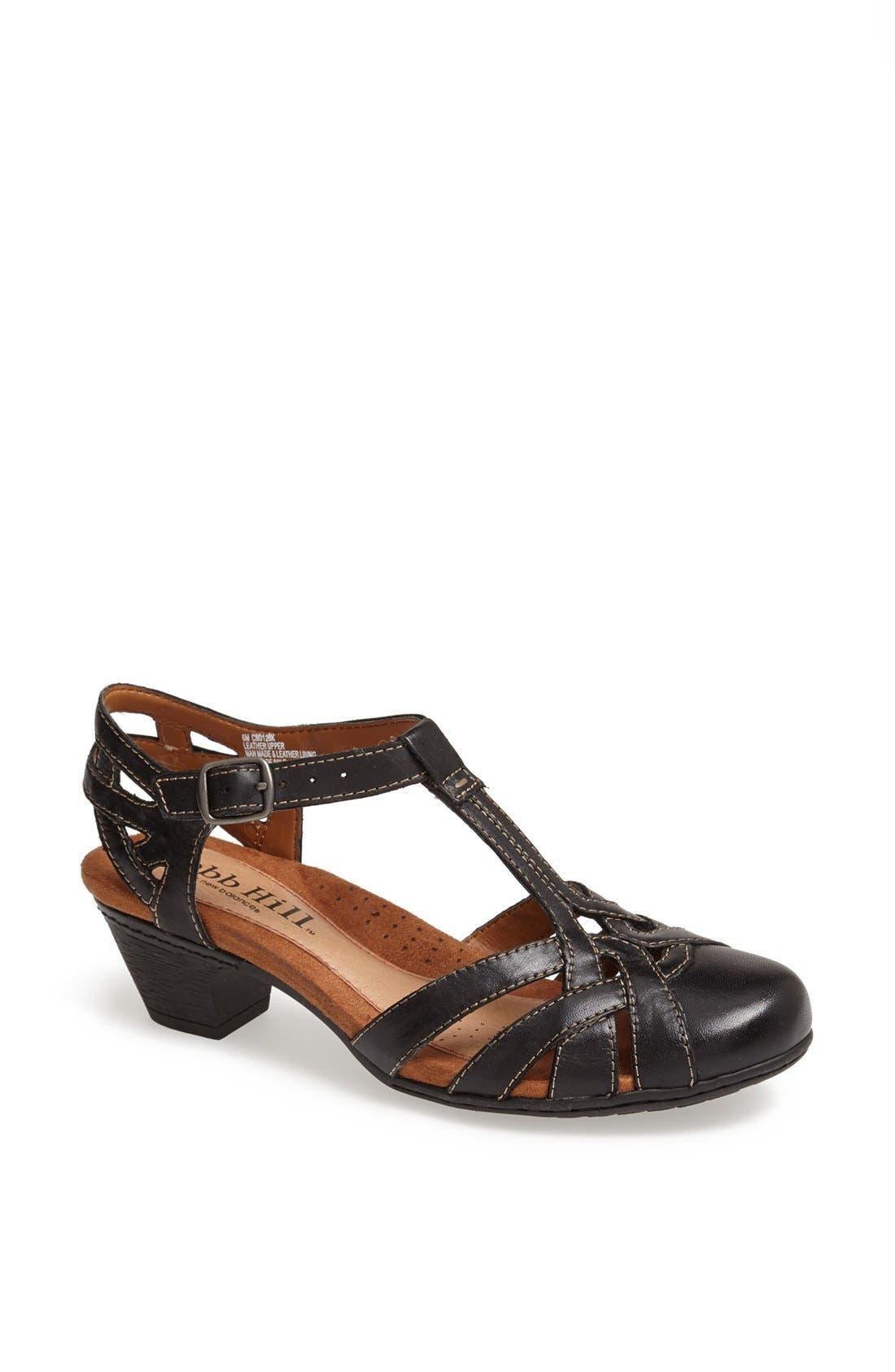 1940s Style Shoes, 40s Shoes, Heels, Boots Womens Rockport Cobb Hill Aubrey Sandal Size 6 W - Black $94.95 AT vintagedancer.com