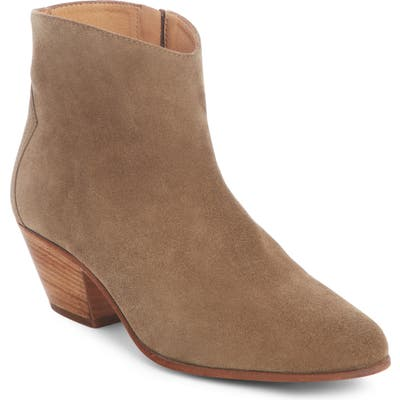 Isabel Marant Dacken Stacked Heel Bootie, Grey