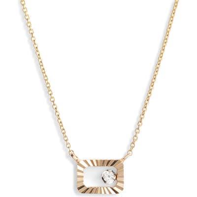 Dana Rebecca Designs Mikaela Estelle Diamond Rectangle Pendant Necklace