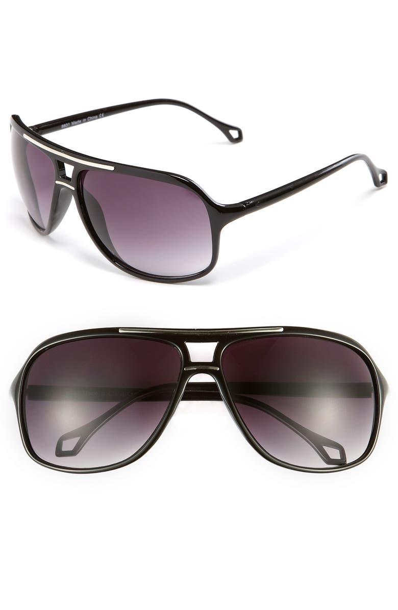 KW 'Bolt' Sunglasses, Main, color, 001