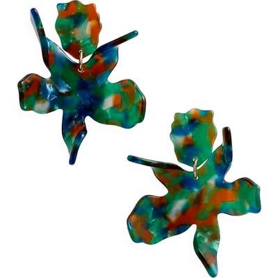 Lele Sadoughi Small Paper Lily Drop Earrings