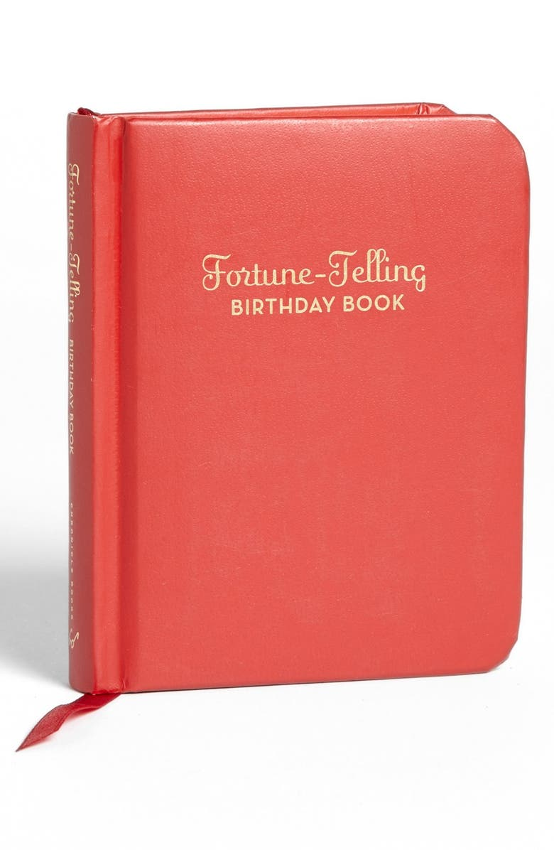CHRONICLE BOOKS Fortune-Telling Birthday Book, Main, color, RED