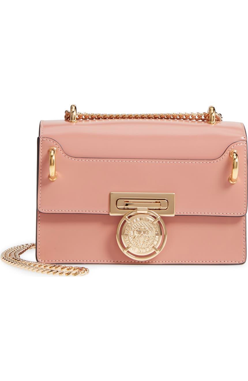53a4fd027e7 Balmain Glace Leather Box Shoulder Bag | Nordstrom