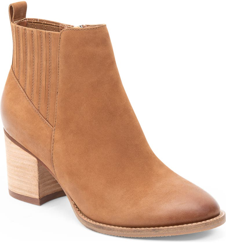 BLONDO Noa Waterproof Bootie, Main, color, COGNAC NUBUCK
