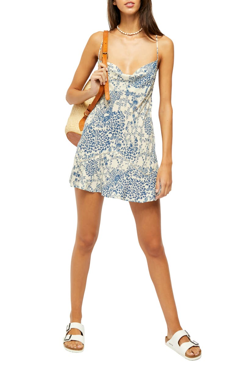 FREE PEOPLE Forever Fields Minidress, Main, color, IVORY COMBO