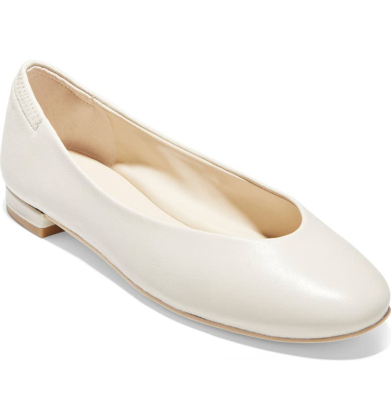 COLE HAAN Haia Flat, Main, color, IVORY LEATHER
