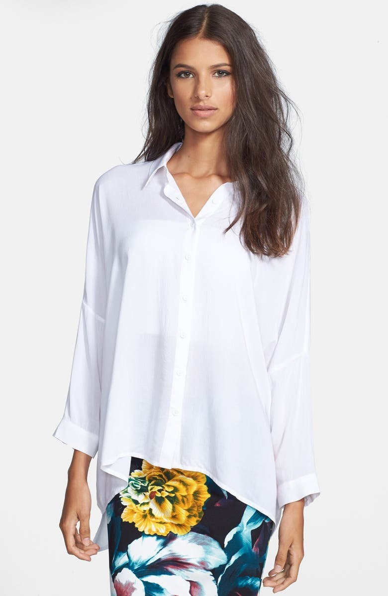 GLAMOROUS Oversized Chiffon Blouse, Main, color, 100