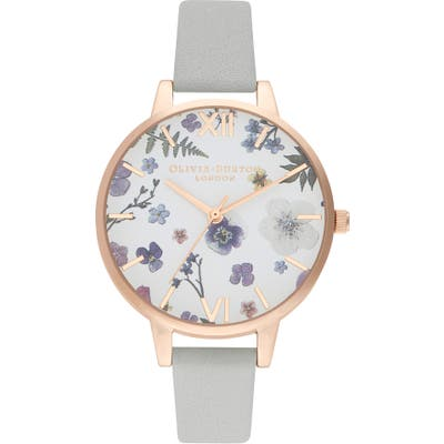 Olivia Burton Artisan Leather Strap Watch,