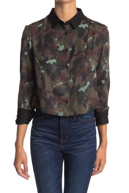 Image of G-STAR RAW Vodan Camp Cropped Shirt
