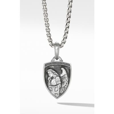 David Yurman Saint Michael Sterling Silver Amulet