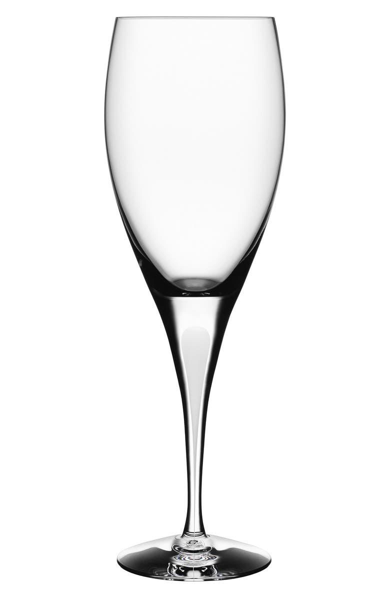 ORREFORS 'Intermezzo' Crystal Goblet, Main, color, 100