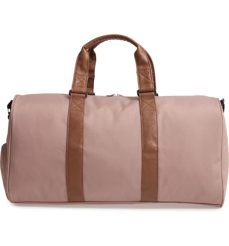 HERSCHEL SUPPLY CO. Canvas Duffle Bag, Main, color, ASH ROSE/TAN
