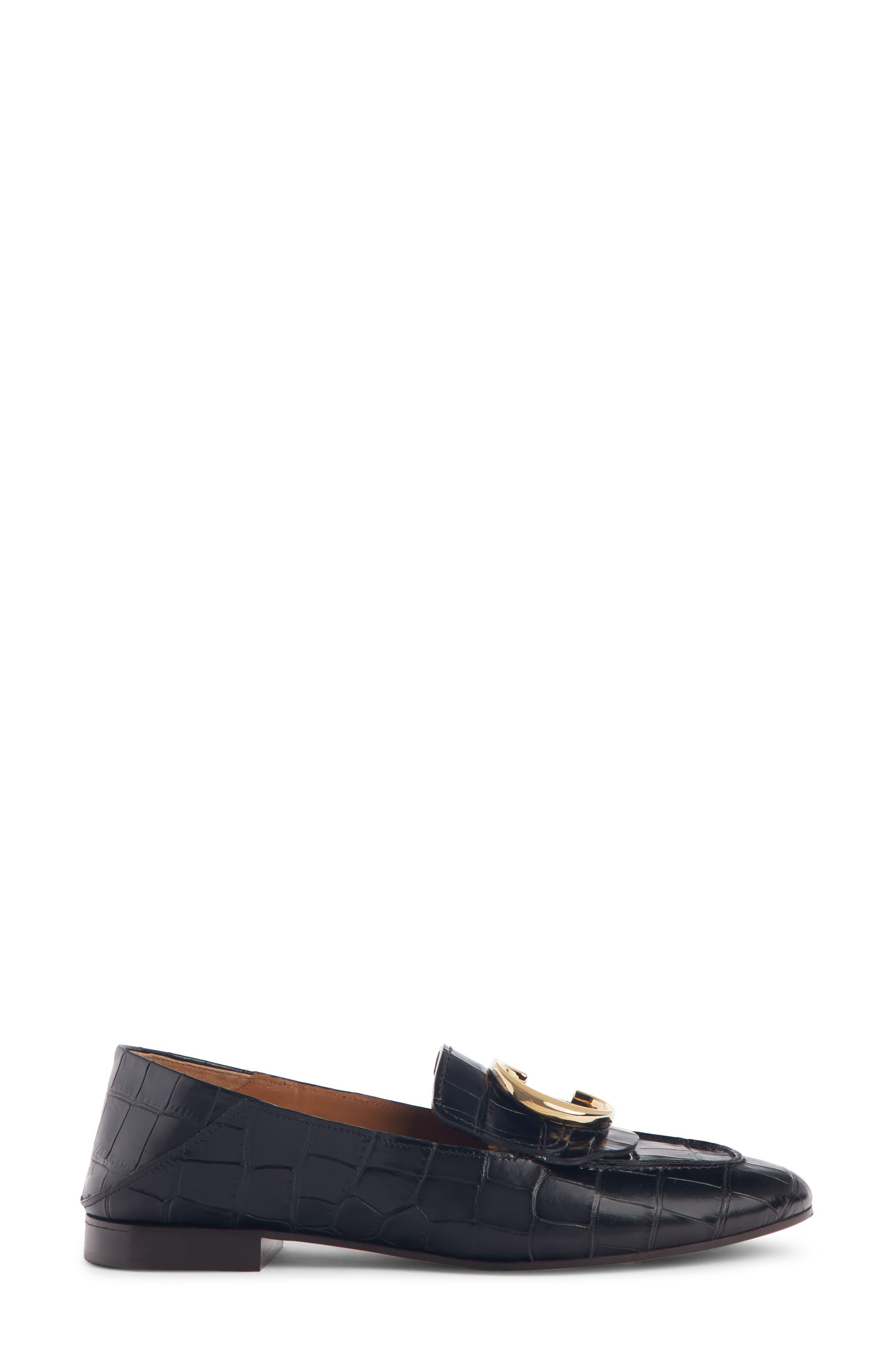 ,                             C Croc-Embossed Convertible Loafer,                             Alternate thumbnail 2, color,                             BLACK