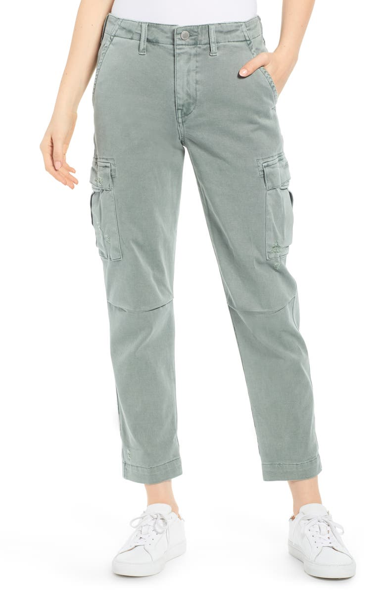 HUDSON JEANS Jane Relaxed Cargo Pants, Main, color, DISTRESSED SAGE