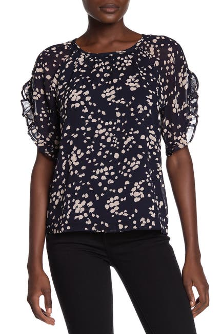 Image of Madewell Memento Short Ruffle Sleeve Top