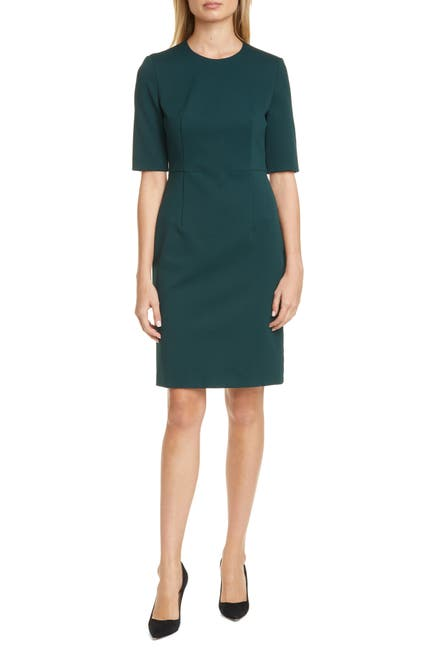Image of BOSS Daxine Textured Sheath Dress