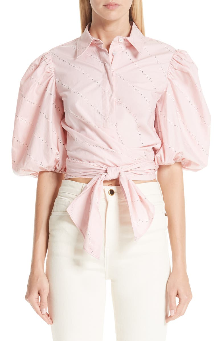 dee245e12b Ganni Print Poplin Shirt | Nordstrom