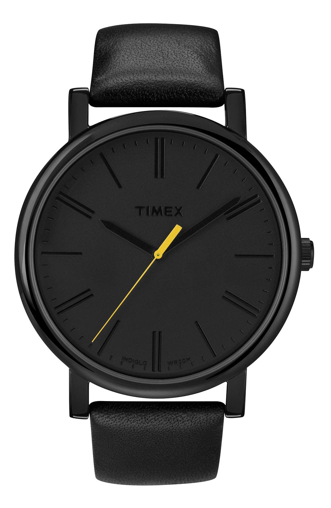 ,                             'Easy Reader' Leather Strap Watch, 42mm,                             Main thumbnail 2, color,                             002