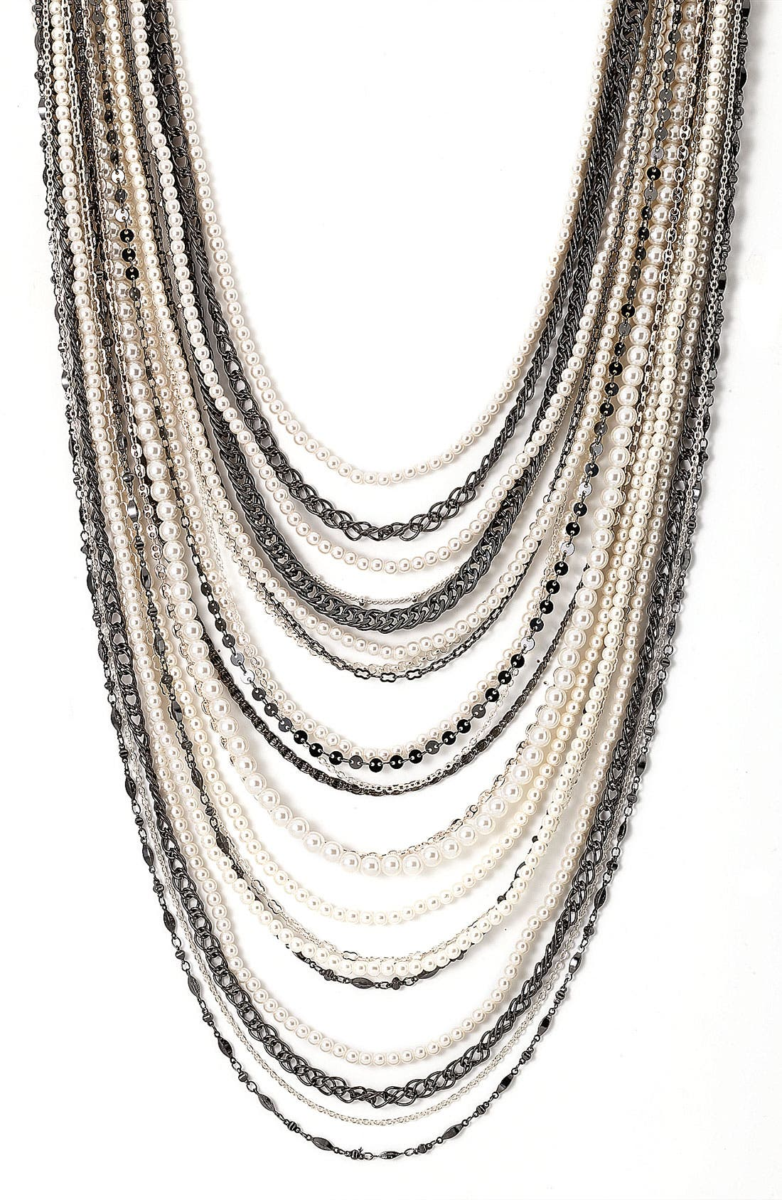 ,                             Beaded Long Multistrand Necklace,                             Main thumbnail 4, color,                             040