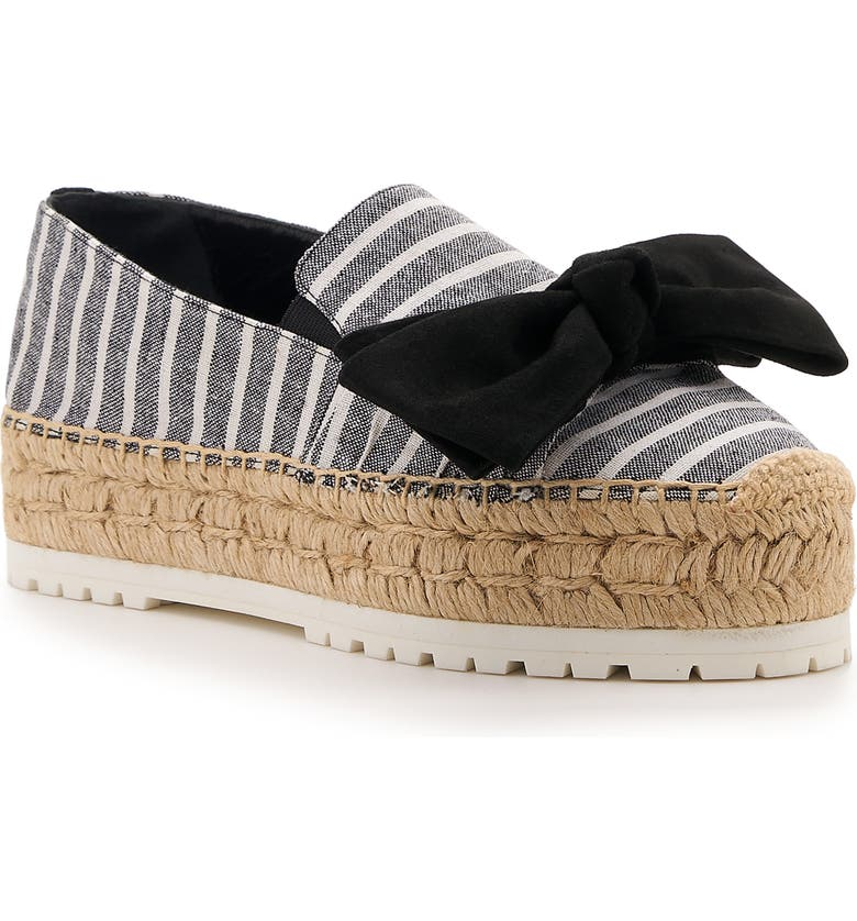 BOTKIER Wesley Platform Espadrille, Main, color, BLACK FABRIC