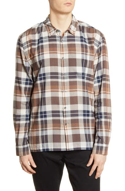 Image of BLDWN Harrison Slim Fit Plaid Button-Up Shirt
