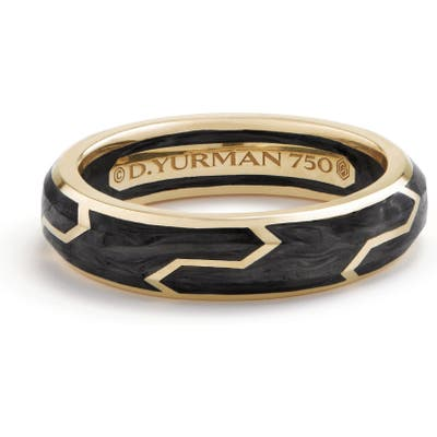David Yurman Forged Carbon Band Ring In 18K Gold, m