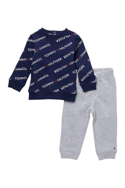 Image of Tommy Hilfiger Logo Sweater & Jogger Set