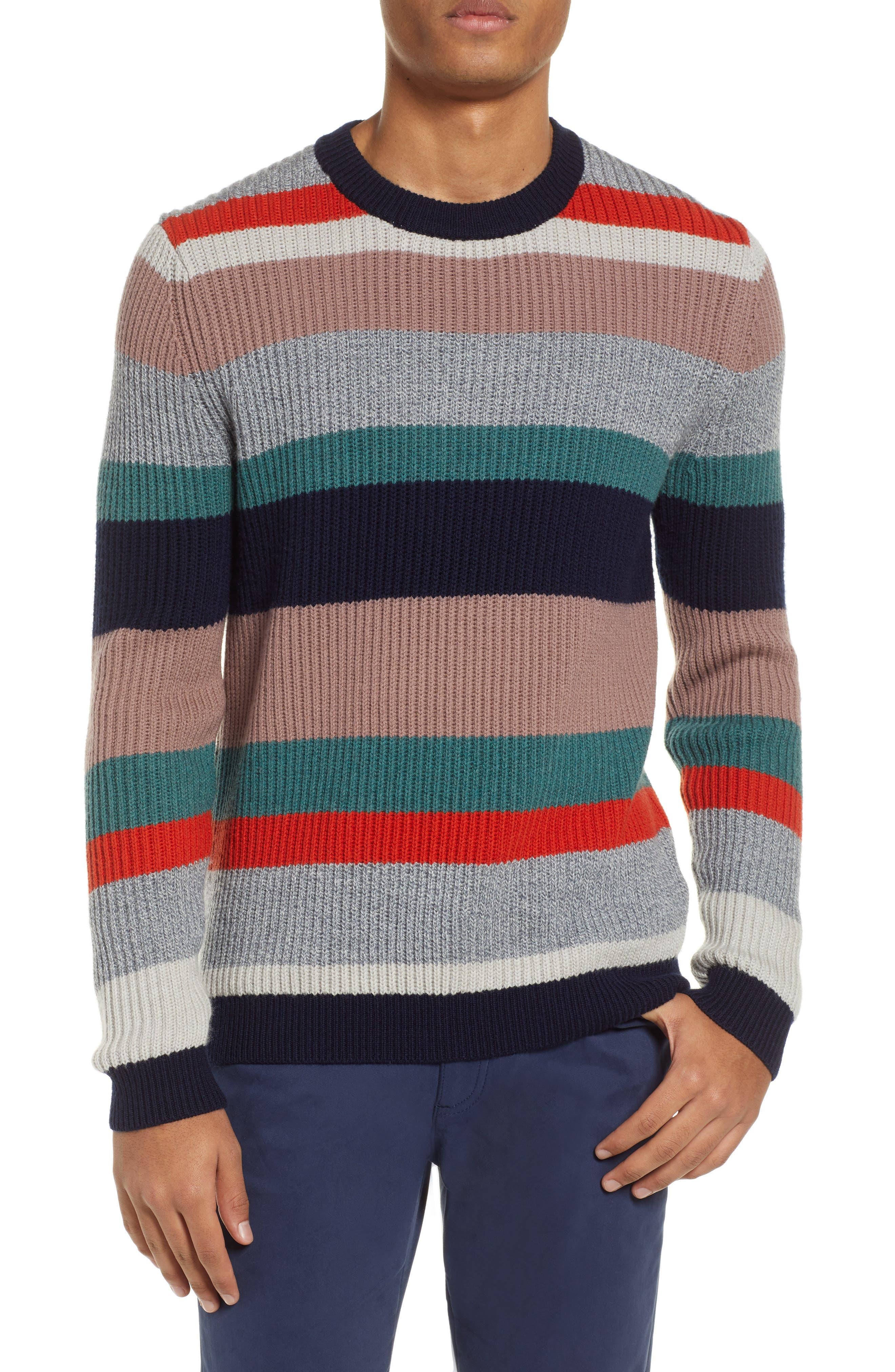 Ted Baker London Krena Slim Fit Stripe Sweater, Pink